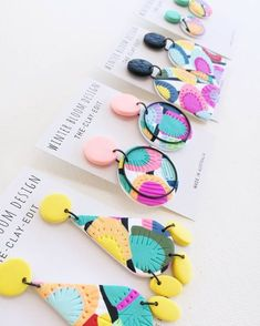 35 Perfect DIY jewelry Make You Outstanding and Special - Page 13 of 35 - VimDecor - DIY jewelry DIY earring DIY necklace - jewelrydiy diy Diy Necklace, Diy Earrings, Polymer Clay Earrings, Statement Earrings, Jewelry Crafts, Handmade Jewelry, Diy Jewellery, Designer Jewellery, Beaded Jewelry