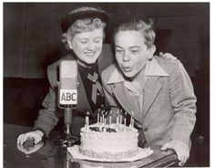 March Bobby Driscoll celebrating his birthday on Frances Scully's radio show. Bobby Driscoll, 13th Birthday, Neverland, Old Hollywood, Peter Pan, Singers, March, Celebrity, Movies