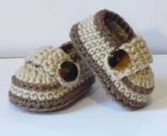 *free pattern-video Let's create: Crochet Baby Boy Shoes*