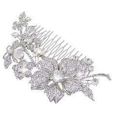 EVER FAITH Bridal Silver-Tone Flower Bumble Bee Hair Comb Clear Austrian Crystal A12567-1, http://www.amazon.com/dp/B00ANITJIS/ref=cm_sw_r_pi_awdm_nmeivb0KKBPHT