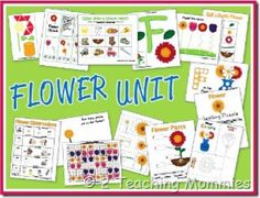 FREE Spring Flower Printable Pages for Kids!