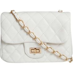 Pilot Quilted Cross Body Bag (36 NZD) ❤ liked on Polyvore featuring bags, handbags, shoulder bags, white, white handbags, white crossbody, quilted purse, quilted crossbody and white cross body purse