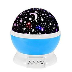 Night Lighting Lamp Arespark Star Light Projector Night Projection Romantic for Children Kids Bedroom Christmas Gifts with 3 Modes 4 LED Beads 360 Degree Rotation  Blue
