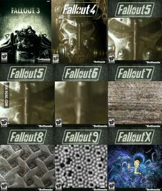 When I saw the Fallout 5 cover on Fallout Facts, Fallout Funny, Fallout 2, Fallout New Vegas, Gamer Humor, Nerd Humor, Gaming Memes, Video Games Funny, Funny Games