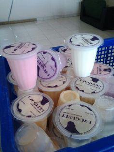 Yoghurt cup kecil 145 ml @Rp. 3.000,- # more information http://distributoryoghurtbandung.blogspot.com