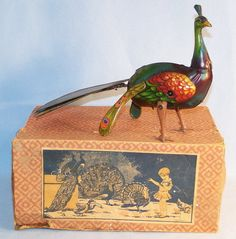 ca.1915 toy peacock.