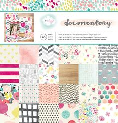 American Crafts Dear Lizzy Documentary 12x12 Patterned Paper Pad 48-sheets