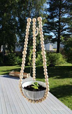 Mrs. Monday: DIY Plantehenger med perler // DIY Beaded plant hanger