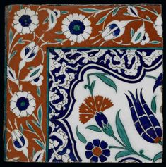 Maker:    Unknown; potter    Category:    fritware (stonepaste)    Name(s):    tile  Islamic pottery; category  Iznik; category    Date:    circa 1575 — 1600    School/Style:    Ottoman    Period:    last quarter of 16th century