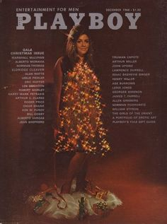 A Pictorial History of the Playboy Gala Christmas Issue: Bikini Tan Lines, Isaac Bashevis Singer, Barbi Benton, Alberto Moravia, Party Jokes, Bond Issue, Playboy Logo, Hugh Hefner, Wonder Woman