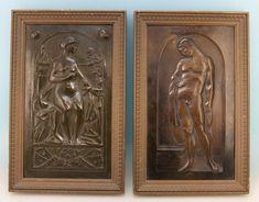 "Paar Jugendstil Bronze Reliefs signiert ""J. Picek"" 1906 - 16627 - | eBay"