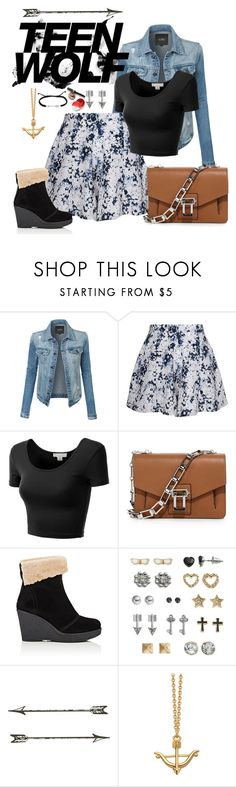 """""""Inspired Teen Wolf Allison Argent"""" by arrowette-854 ❤ liked on Polyvore featuring LE3NO, Olive + Oak, J.TOMSON, Proenza Schouler, Mr & Mrs Italy, SO, Astley Clarke and Finesque"""