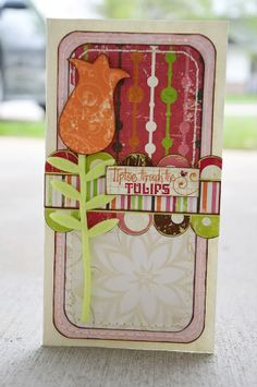 """Tiptoe Through the Tulips"" card by Allison Davis"