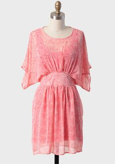 Sunkissed Coral Patterned Dress at #Ruche @shopruche