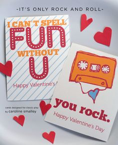 More adorable free printable valentines from Classic Play