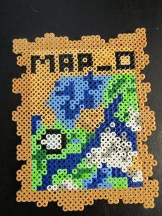 Minecraft map 0 Perler Beads by PerlerPalace on deviantART Fuse Bead Patterns, Perler Patterns, Pearler Beads, Fuse Beads, Minecraft Party, Minecraft Tips, Hama Beads Minecraft, Minecraft Creations, Perler Bead Art