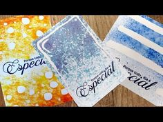 Cartões com máscara para aquarela | Lilipop Carimbos