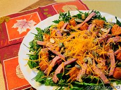 pumpkin salad with ham