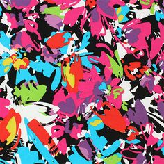 Peg legs! Bright Abstract Floral Cotton Spandex Knit Fabric - Beautiful colors of purple blue, pink, and lime green in a abstract floral design cotton spandex knit.   Fabric is soft, with a nice 4 way stretch, mid weight (see image for scale).  ::  $6.50