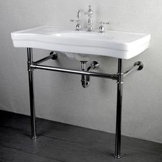 Shop Imperial Vintage Chrome Pedestal Vitreous China Sink 36-inch Wall-mount Bathroom Vanity - Free Shipping Today - Overstock - 6573333