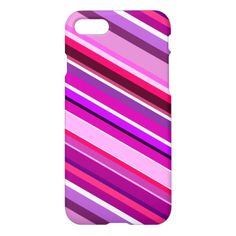 Diagonal Stripes in Pinks, Purples, and White