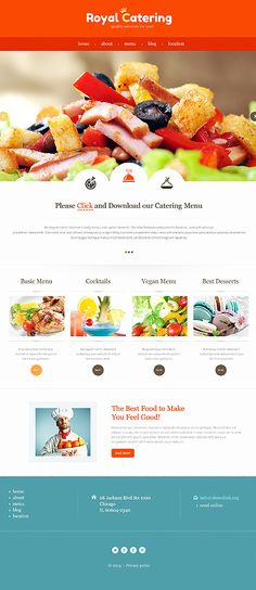 Template 47307 - Catering Company Responsive Bootstrap Website Template