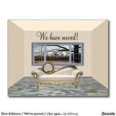 New Address / We've moved / chic apartment Postcard