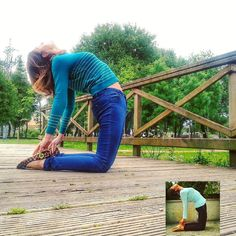 Day 24  #MayIBeginYoga2016  #Ustrasana  I can feel the improvement but I've discovered my throat is very tight I should work on lengthening it don't you think? Progress unveils different layers you can work on it's amazing! Till now I was focussed on lengthening the tail bone and moving the thighs and sternum forward quite a lot! But it's time to add something more!  Noto que he mejorado pero ahora me doy cuenta de que tengo que trabajar la extensión  de la garganta también! Es asombroso…