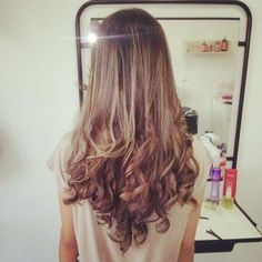 Blonde on Brown Curls - Hairstyles and Beauty Tips