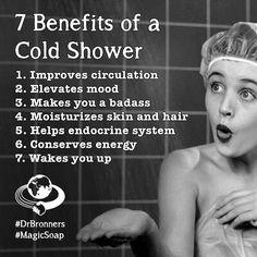 7 voordelen van een koude douche  7 benefits of a cold shower  thanks to Dr. Bronner's Magic Soap