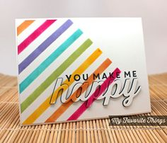Happy Everything, Happy Die-namics, Stripes Stencil - Amy Rysavy #mftstamps