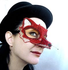 fox mask Etsy listing at http://www.etsy.com/listing/106587050/red-fox-masquerade-mask-womens-costume