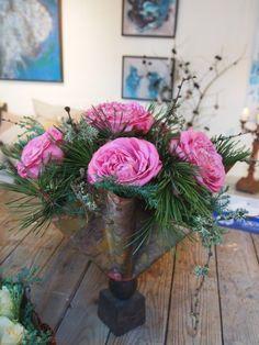 Billeder fra jul i galleriet/kursusrummet og åben julehave nu på lørdag og søndag fra kl 13 til 18 – Bruun's Have Floral Wreath, Wreaths, Christmas, Home Decor, Nature, Flowers, Xmas, Floral Crown, Decoration Home