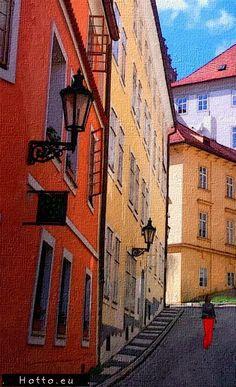 Praha - oil painting ( http://www.hotto.eu ) #hotto.eu