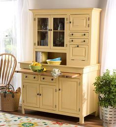 Large Painted Finish Conestoga Cupboard | Kitchen Furniture | American-made Conestoga Cupboard is handcrafted with handy shelves for staples and kitchen supplies instead of a flour sifter and grain bins. Showcase in the kitchen, dining room or bar area for a convenient conversation piece. | Farmhouse style, farmhouse cupboard, farmhouse kitchen.