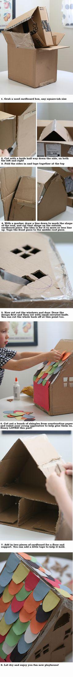 making a cardboard box kids craft