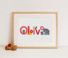 nursery art - kid's names