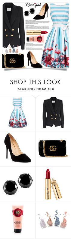 """Rosegal"" by dzenanlevic99 ❤ liked on Polyvore featuring Pierre Balmain, Liliana, Gucci and West Coast Jewelry"