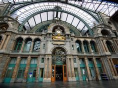Central Station, Antwerp, Belguim : Photos: The World's Most Beautiful Train Stations : Condé Nast Traveler