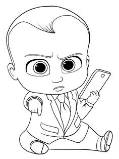 The Boss Baby Coloring Pictures - The Boss Baby is the animated film by DreamWorks Animation. This funny film will be here. Yes, there are The Boss Baby coloring pictures below. Family Coloring Pages, Coloring Pages For Girls, Disney Coloring Pages, Coloring Pages To Print, Free Coloring Pages, Coloring For Kids, Printable Coloring Pages, Coloring Books, Coloring Sheets