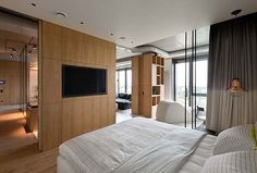 Sophisticated modern penthouse in Kiev designed for entertaining