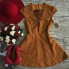 For summer, #suëde #vestido #cuteOutfits