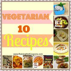 10 Vegetarian Recipes Click here --> http://www.raininghotcoupons.com/10-vegetarian-recipes/