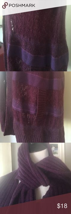 Purple Lambs Wool Cape Moda International XS. Excellent Condition! Lambs Wool. Super soft! Cape has arm holes on either side. *See picture Moda International Sweaters Shrugs & Ponchos