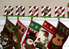 Invite and Delight: DIY Christmas Stocking Holders Christmas Stocking Holders, Christmas Stockings, Pet Stockings, Invitations, Invite, Christmas Time, Holiday Decor, Crafts, Needlepoint Christmas Stockings