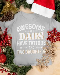 Awesome Dads Have Tattoos And Two Daughters - Ash tattoos quotes, mandala tattoos, mountain tattoos #tattoolove #tattoosofinstagram #inkedandsexy, dried orange slices, yule decorations, scandinavian christmas Time Tattoos, Small Tattoos, Two Daughters, Sons, Grandparents Tattoo, Cycling Tattoo, Yule Decorations, Nature Tattoos, Orange Slices