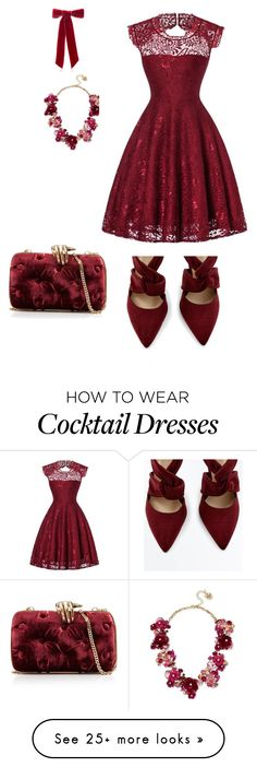 """""""Holiday style"""" by bellissabeauty on Polyvore featuring Jennifer Behr, Betsey Johnson and Benedetta Bruzziches"""