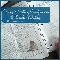Using Writing Confer