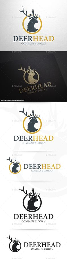 Deer Head Logo Template — Vector EPS #branding #stocklogo • Available here → https://graphicriver.net/item/deer-head-logo-template/9259951?ref=pxcr