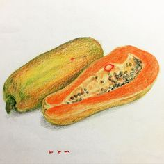 As usual my daughter added her artistic touch  #papaya #tropical #fruit #colorpencil #sketching #coloring #drawing #amateur #art #arte #artist #art_gallery #artwork #instaart #instapic #picoftheday #photooftheday #instapicture #selftaught #talent #talnts #talentedpeopleinc #_talent #delicious #sweet #healthyfood #foodphotography #instafood #foodofinstagram #foodporn by zarnco